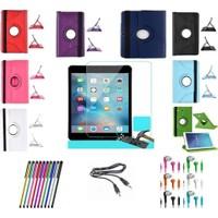 İdealtrend Apple İpad Air 2 360 Dönerli Tablet Kılıf + Film + Kalem + Aux Kablo + Kulaklık
