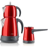 Arzum Ehlikeyf Delux Çay Ve Kahve Robotu Seti - Nar