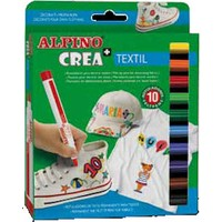 Alpino 10 Renk Kumaş Boyası Crea Textil
