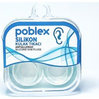 Poblex Silikon Kulak Tıkacı - Kulak Koruyucu Tıpası Saf Silikon 2'li