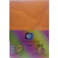 Alex Schoeller Neon Renkli Fotokopi Kağıdı A4 80 Gr Karışık Renk-100'Lü