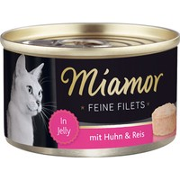Miamor Fileto Tavuklu Pirinçli Kedi Maması Konservesi 100 Gr