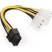 Dark 2xMolex 4Pin / 6+2Pin PCI-E Dönüştürücü Güç Kablosu (DK-CB-P104)