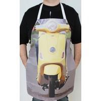 Modafabrik Motorsiklet Baskılı Mutfak Önlüğü