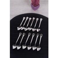 Queen'S Kitchen 12 Adet Çelik Kalp Çay Kaşığı
