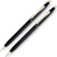 Cross 2501 Classic Century Klasik Siyah Altın Tükenmez Ve Kurşun Kalem Seti