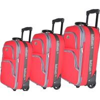 Fare Hiper Luttun 0500-3 Kırmızı 3 Parça Bavul Seti