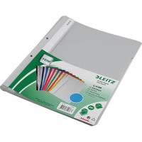 Leitz 4189 Plastik Telli Dosya 50'li Renk - Gri