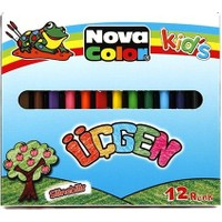 Nova Color Kids Silinebilir Üçgen Kuru Boya Kalemi Nc-2119