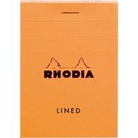 Rhodia Basics 85 x 210 Mm Zımbalı Turuncu Çizgili Defter Rb 12600