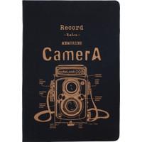 Notelook Bronz Camera A6 Çizgili 100 Yaprak Defter