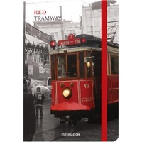 Notelook Red Tramvay A6 Çizgisiz Defter