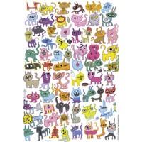 Heye 29482 Doodlecats - 150 Parça Mini Puzzle (Jon Burgerman)
