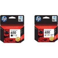 HP 650 CZ101A / CZ102A Avantaj Paket Orjinal Kartuş , HP Deskjet 1015 / 1515 / 1516 / 2545 / 2546 Orjinal Kartuş