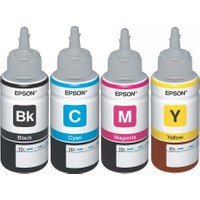Epson EcoTank L365 Orijinal Siyah + Sarı + Mavi + Kırmızı 4 Renk set Ekonomik Yazıcı Mürekkep Kartuş