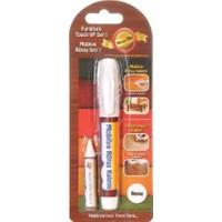 Filo Yapı Beyaz Renk / Mobilya Rötüş Kalemi + Ahşap Dolgu Kalemi