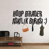 Ejoya Hoop Birader Askılık Burası Duvar Sticker