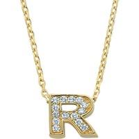 Ejoya Taşlı Altın Kolye ''R''
