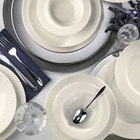 Kütahya Porselen Bone İron 24 Parça Yemek Takımı