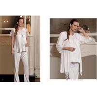 Artış Lohusa 3'lü Pijama Takım 839 - Pudra