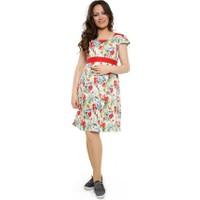 Fuçin Öpücük Yaka Hamile Elbise 4769 - Kırmızı