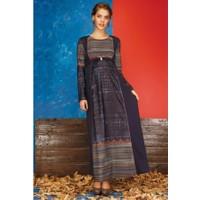 Livaa Hamile Uzun Elbise 1619 - Siyah