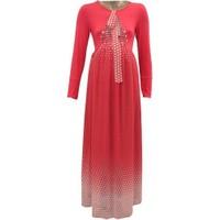 Livaa Hamile Uzun Şifon Elbise 1747 - Mercan