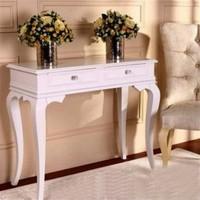 Masifart 100cm Çekmeceli Makyaj Masası Dresuar Beyaz