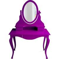Masifart Elpi Makyaj Masası Aynalı Dresuar Lila