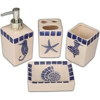Setabianca Bath Banyo Seti 4Lü Mozaik Denizatı Sade