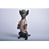 Setabianca Biblo Ayakta Yeşil Şapkalı Köpek