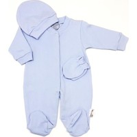 Elçi Baby Düz Mavi Bebek Tulumu 0-3 Ay