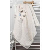 Bebbemini Ayıcık Figürlü Bebek Battaniye
