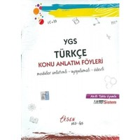 Eksen Yayıncılık Ygs Türkçe Konu Anlatım Föyleri
