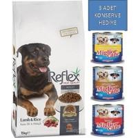 Reflex 15 Kg Kuzu Etli & Pirinçli Yetişkin Köpek Maması