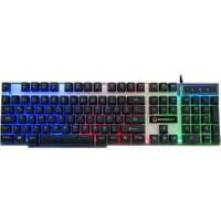 Gamemax FK-G508QU 3 Renk Işıklı Klavye USB Siyah Tuş