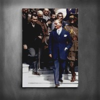 Dekolata Atatürk Renkli 7 Kanvas Tablo