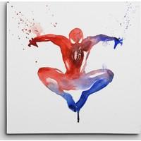 Dekolata Spider Man Kare Kanvas Tablo
