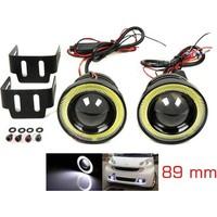 Modacar 6Lı Paket C.O.B Kar Beyaz Projektör+Angel Sis Lambası 89 Mm 498822