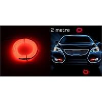 Modacar 6Lı Paket Kırmızı Tube Neon Kablo 2 Metre 378816