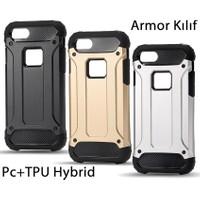 Microcase Apple iPhone SE-5S-5 Armor Hybrid Kılıf+Tempered Cam