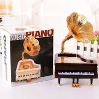 Pratik Piyano Müzik Kutusu Kahverengi