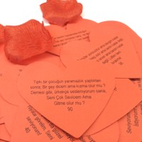 Pratik Kalp Şeklinde Romantik Aşk Sözleri
