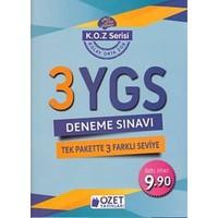 Özet Yayınları K.O.Z. Serisi Ygs 3 Deneme Sınavı