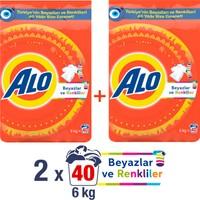 Alo Toz Çamaşır Deterjanı Beyazlar ve Renkliler İçin 6 kg + 6kg