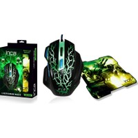 Inca IMG-365MS 3200DPI 7D Siyah Kablolu Laser Oyuncu Mouse + Mouse Pad
