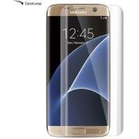 Case Leap Samsung Galaxy S7 Edge Ekran Koruyucu Full Koruma Şeffaf