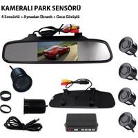 Tvet Kameralı Park Sensörü Aynalı 4 Sensörlü Gece Görüşlü
