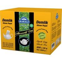 Karali Çay Alternatif Demlik Poşet Bergamot'lu Siyah Çay 200x30gr