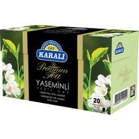 Premium Bardak Poşet Yaseminli Yeşil Çay 20'li